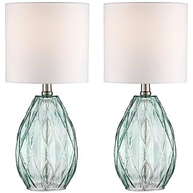 Rita Blue-Green Glass Table Lamp Set of 2