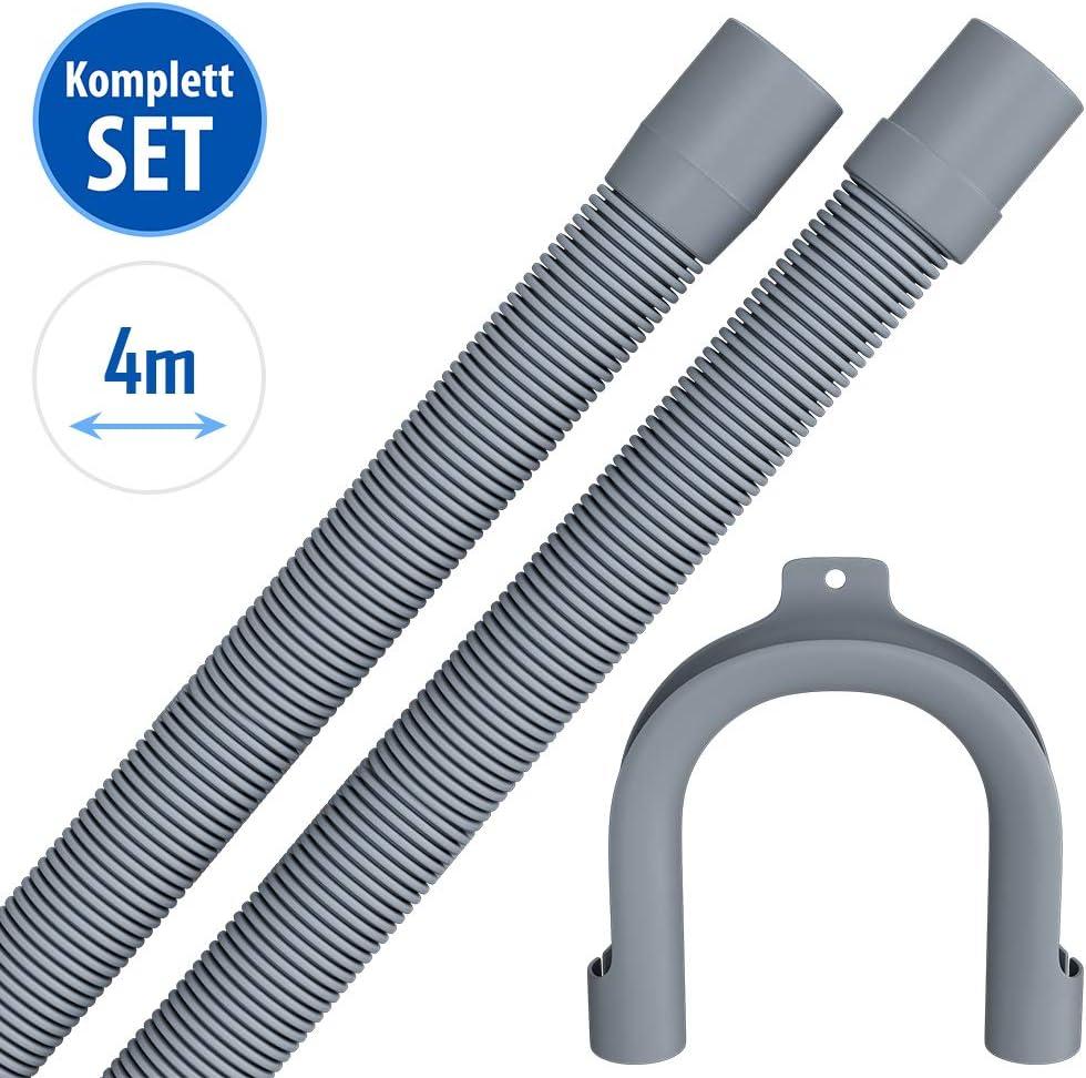 Winkel 2,5 Meter Tubo de desag/üe para lavadora lavavajillas y manguera de desag/üe flexible para lavadora Gerade
