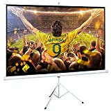 "Projector Screen, Auledio Portable 100"" Diagonal 16:9 HD Manual Pull Down Video Projection"