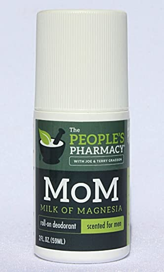 Mens MoM (Milk of Magnesia) Aluminum-free Roll-on Deodorant