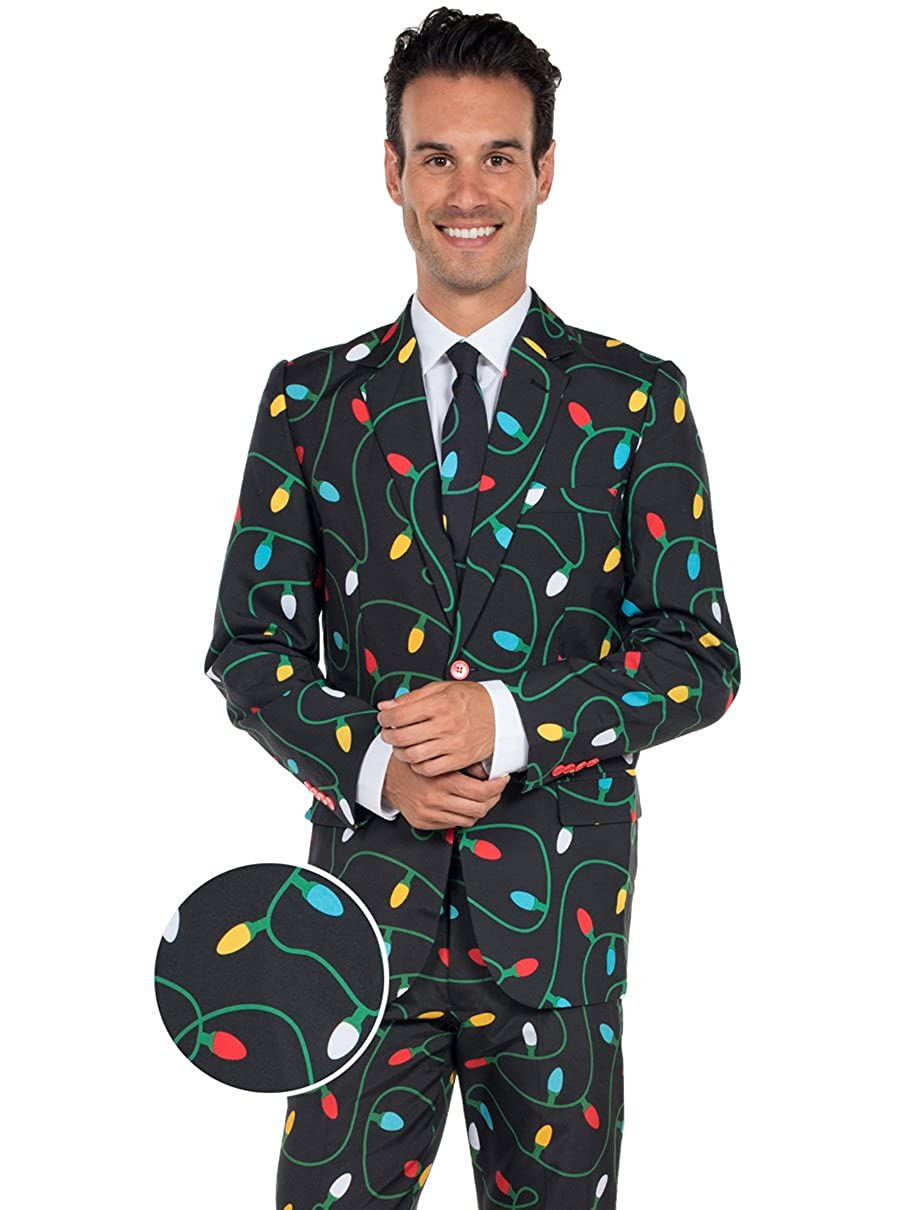 Tangle Wrangler Holiday Christmas Suit - Ugly Christmas Sweater Party Suit TE-CSUIT10
