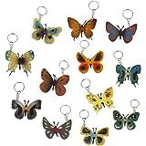 Lot 12 Porte clé Anneau en Plastique Clef Bijou Mode Pendentif Papillons