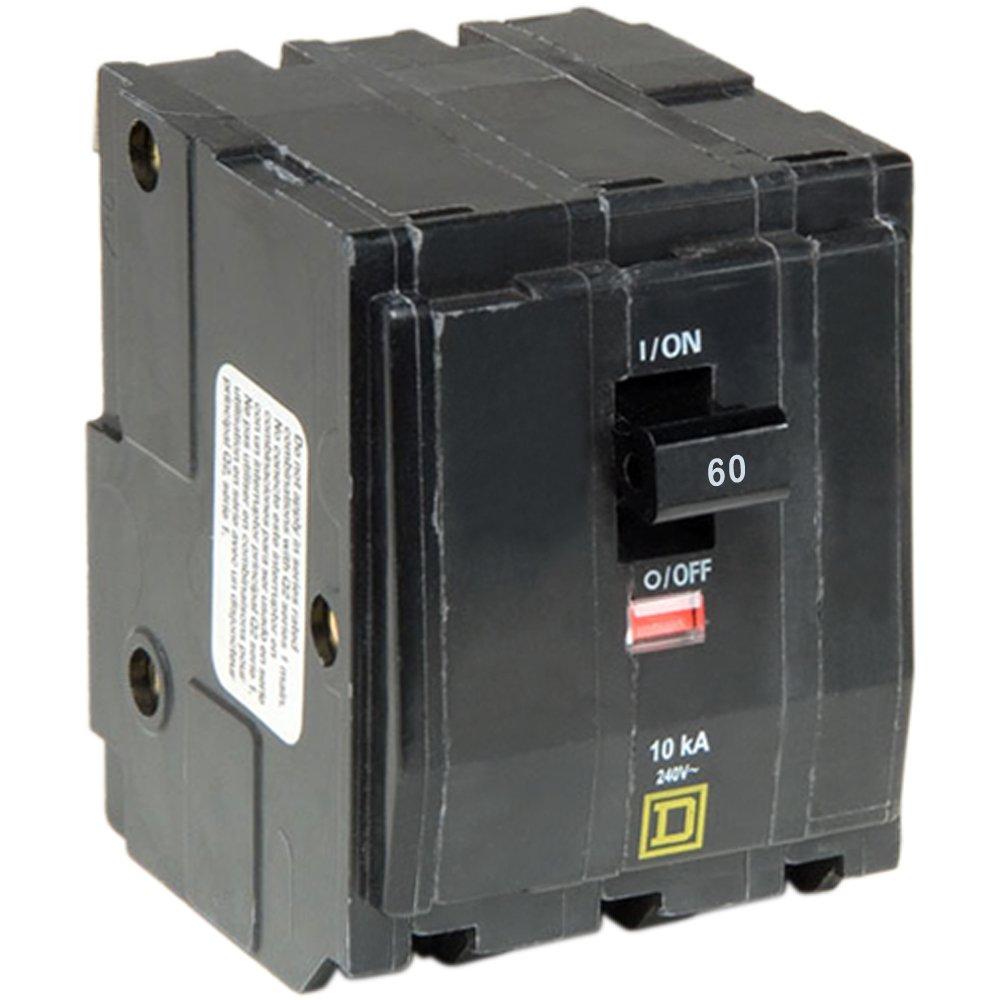 Square D by Schneider Electric QO360CP QO 60 Amp Three-Pole Circuit Breaker, ,