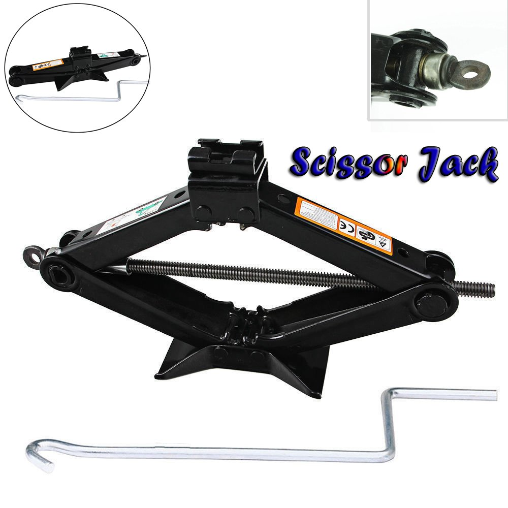 Spare Tire Kit Scissor Jack with Speed Handle 2 Ton Floor Jack Wind Up Lift for Caravans/Honda Jazz/Audi / BMW/Benz / Ford/Toyota / Dodge/Chevy