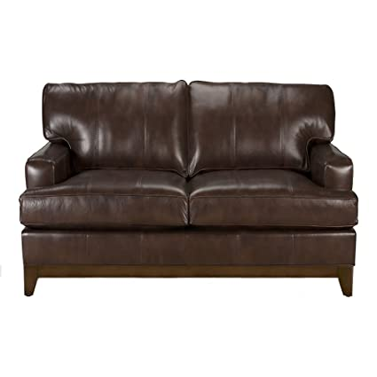 Amazon.com: Ethan Allen Arcata Leather Sofa, 62\
