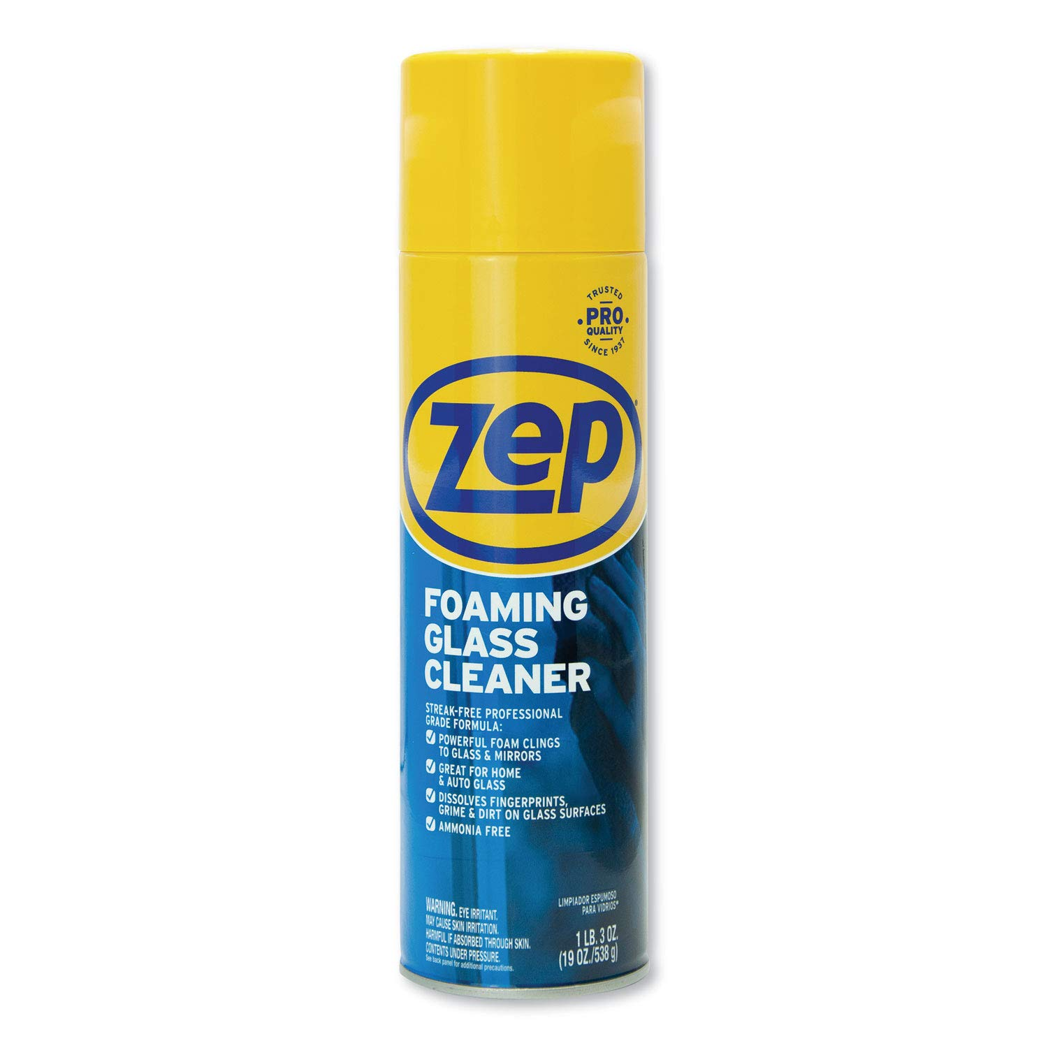 Zep Commercial Foaming Glass Cleaner, Pleasant Scent, 19 oz Bottle, 12/Carton by Zep Commercial