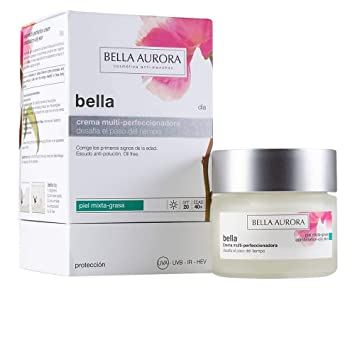 Bella Aurora, Bella Día, Crema día antiedad y antimanchas p.mixta-grasa -50ml: Amazon.es: Belleza