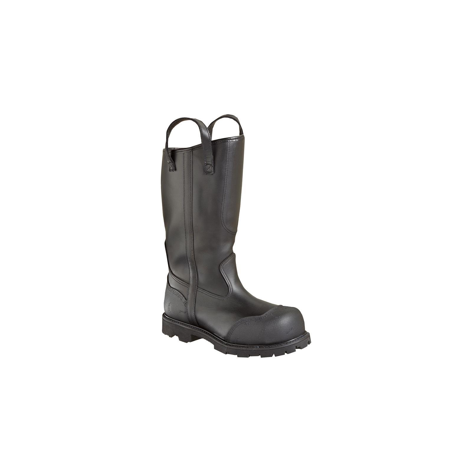 Women's Thorogood 14 inch Structural Firefighting Oblique Steel Toe Waterproof Bunker Boots, BLACK, 10W