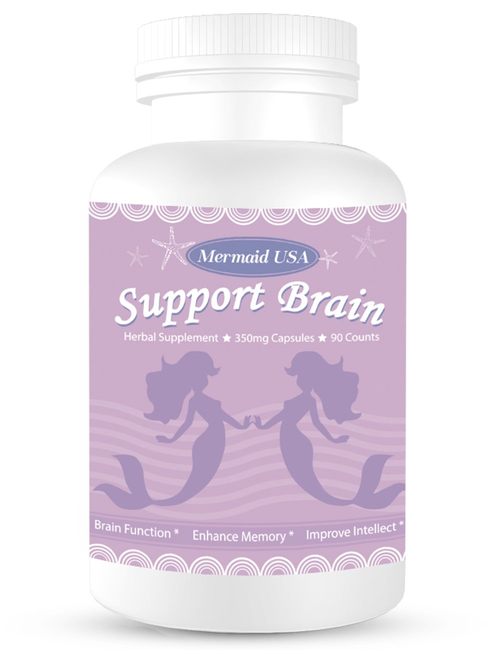 Magic Brain Formula M.U Mermaid USA Support Brain Memory Focus Clarity Energy and Sleep -Green and Natural Non-GMO by M.U