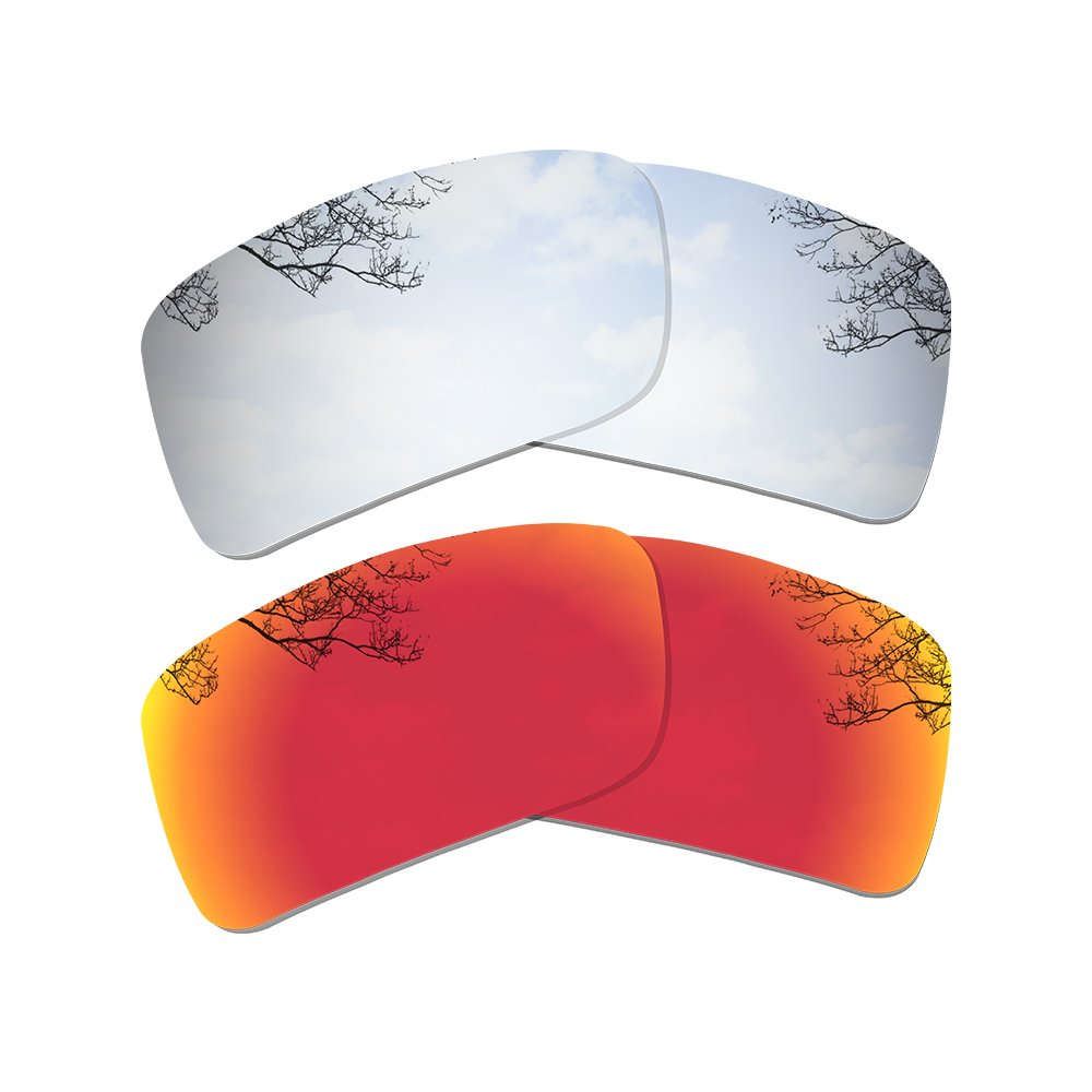 Dynamix Polarized Replacement Lenses for Oakley Gascan - Multiple Options (Titanium + Fire Red, Polarized Enhanced) by Dynamix