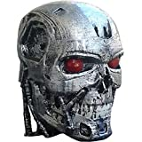 Unique Shape Plastic and Old Steel Terminator Head Showpieces (Steel)