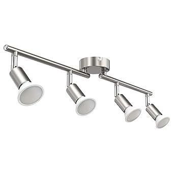 LED Deckenleuchte 2 flammig Drehbar Deckenstrahler Schlafzimmer Küchen Lampe