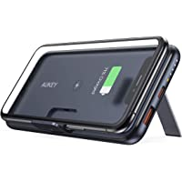 Aukey PB-WL02 Basix Pro 10000mAh 18W Power Delivery & Quick Charge 3.0 Wireless Portable Charger with Foldable Stand