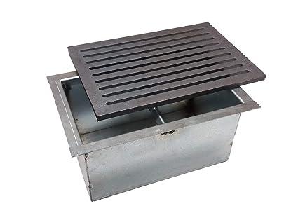 Rejilla de hierro fundido para chimenea cm 20 x 30 con cajón recogedor ceniza Cm 20