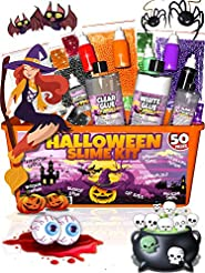 Halloween Slime Kit for Girls and Boys -...