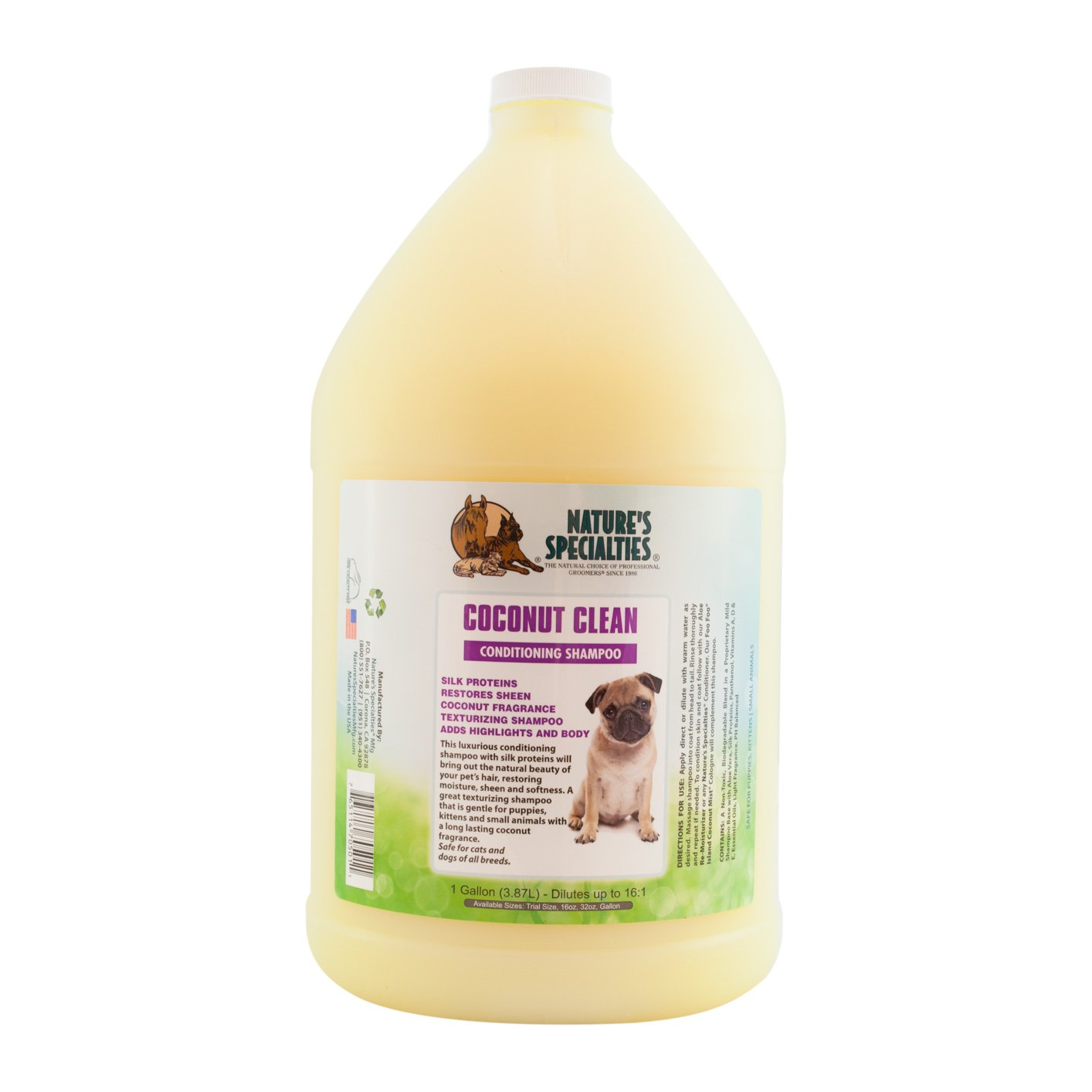 Nature's Specialties Coconut Clean Pet Shampoo