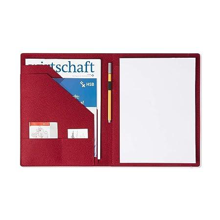 Schreibmappe Schmetterling aus Filz Stifthalter grau, Farbe w/ählbar Dokumente Visitenkarten Konferenz-Mappe f/ür Block Bl/ätter