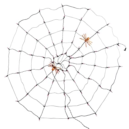 Amazon Com Halloween Purple Lighted Cobweb Spiderweb Indoor Outdoor