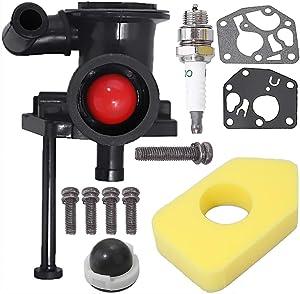 795477 Carburetor for Briggs & Stratton 795469 794147 699660 794161 498811 with 698369 Air Filter Spark Plug