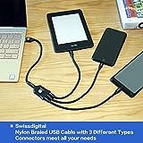 USB 3 in 1 Cable, Swissdigital Multi Charging