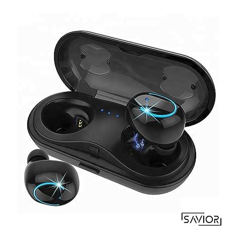 Auriculares Bluetooth,Auriculares estéreo Bluetooth In-Auriculares en la Oreja con Caja de Carga