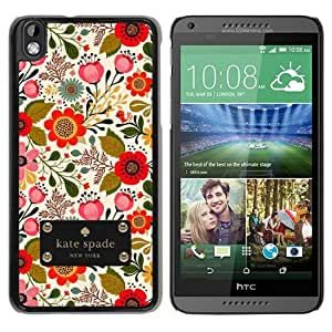 Personalized Design With Kate Spade 74 Black HTC Desire 816 Protective Cover Case