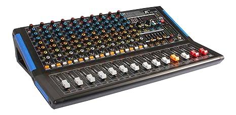 K KG-12B Mezclador de 12 canales con tarjeta de sonido ...