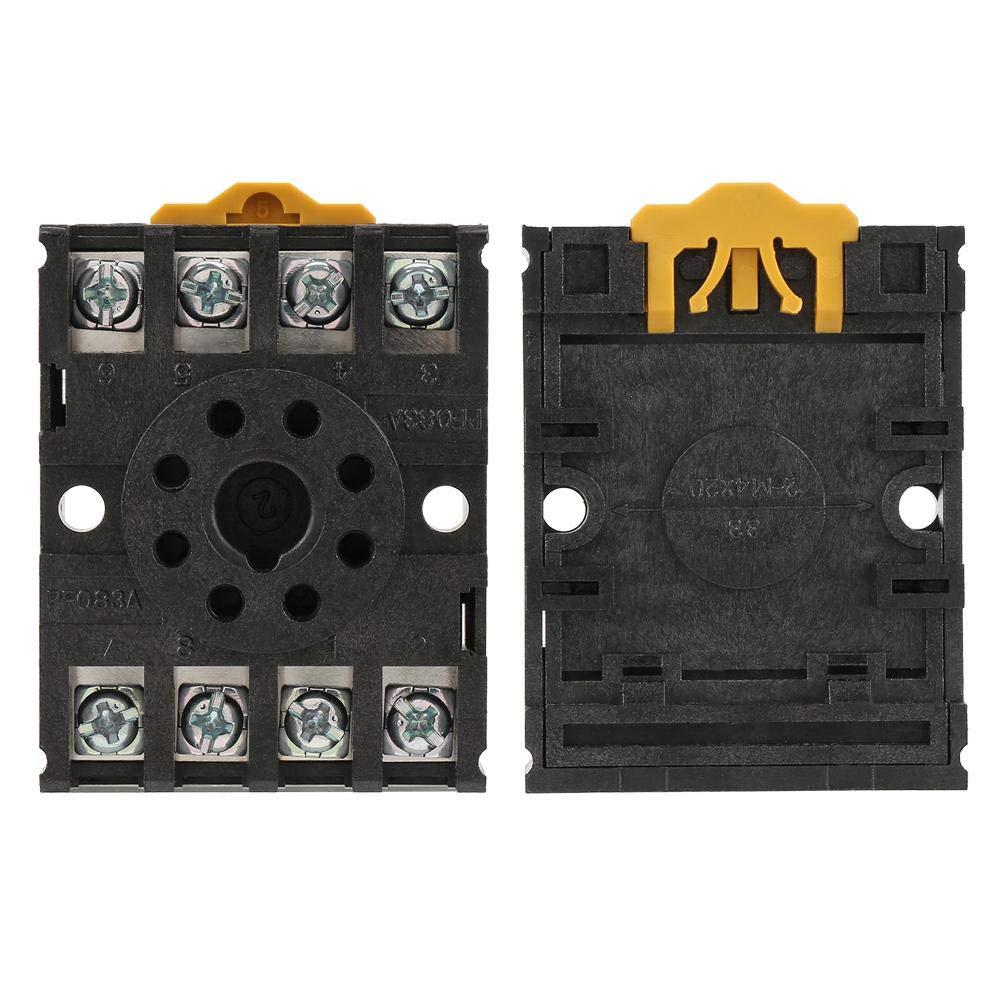Zerone PF083A 8 Pins Leistungsrelais-Sockel f/ür Zeitrelais MK2P AH3