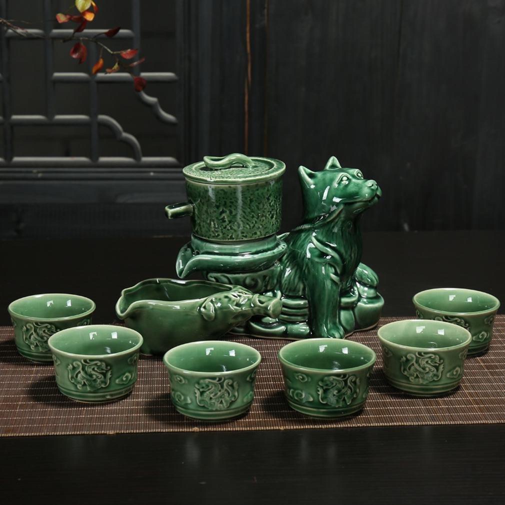 L Y Lazy Tee Maker Automatische Kung Fu Tee-Set Keramik Immer Laufen Brennofen Ändern Geschenk-Box-Set von Lila Sand