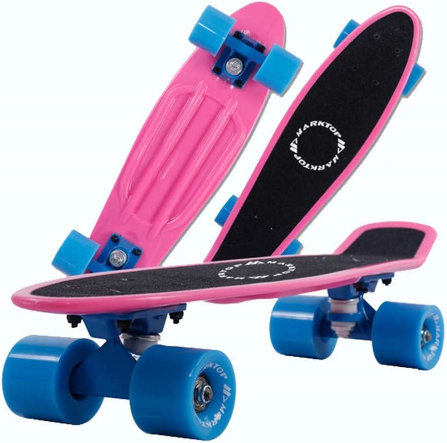 スケートボードコンプリート、LEDクルーザースケートボード、クルーザーミニプラスチックSkateboardslongboard完全なスケートボードの誕生日とクリスマスハロウィンギフト