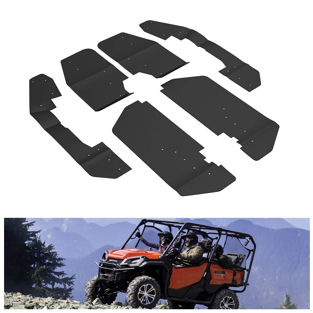 KIWI MASTER Fender Flares Extensions Compatible for 2014-2019 Honda Pioneer 1000-5 Mud Flaps Guards