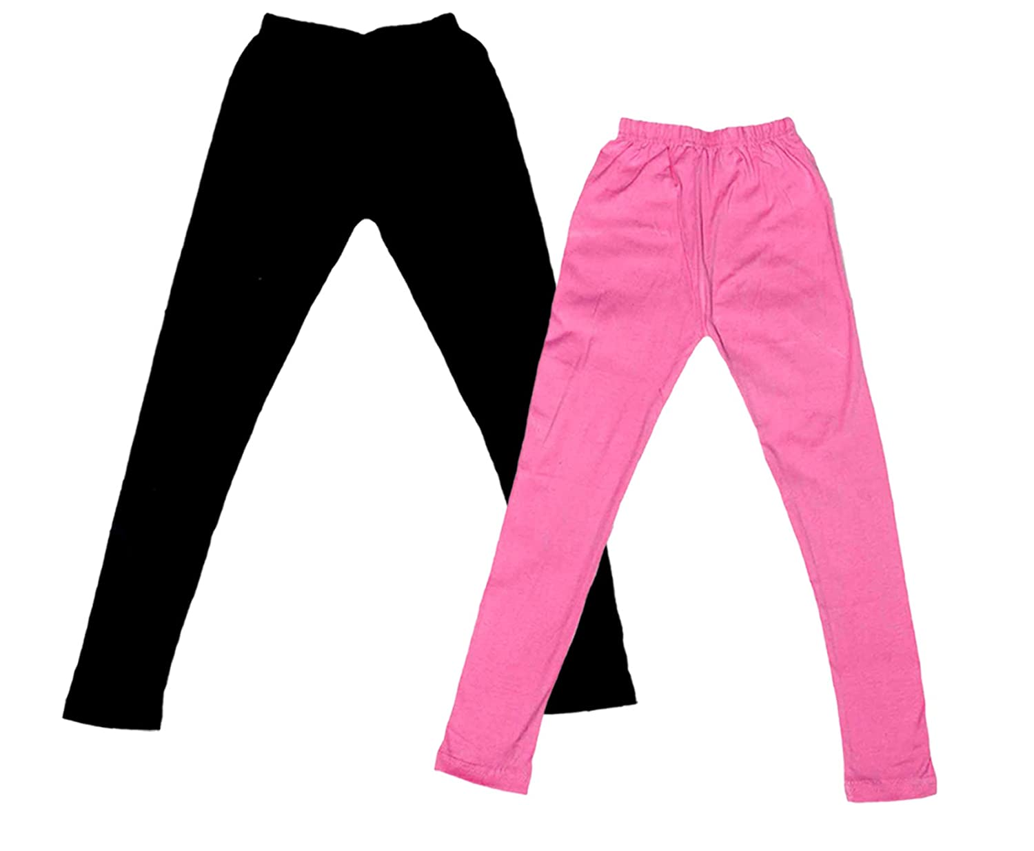 Indistar Little Girls Super Soft Cotton Leggings Combo Pack Of 2