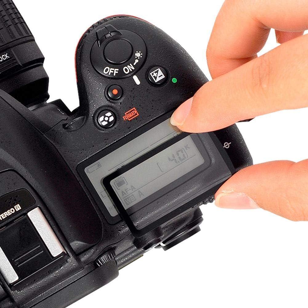 Cubierta Superior Protectora de Cristal de la Ventana de acr/ílico Superior de la Pantalla LCD para Nikon D850 D500 Diyeeni Cubierta Superior Superior Externa de la Pantalla LCD