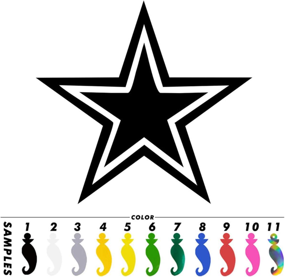 2pcs Dallas Cowboys Star NFL Football Pattern Car Decal Vinyl Sticker Laptop Decor