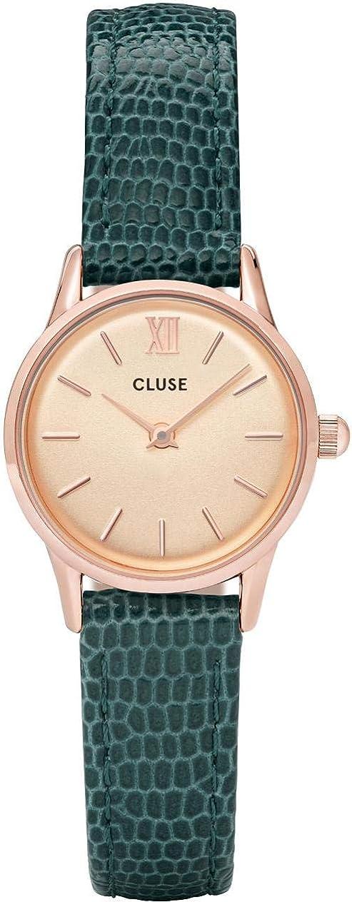 Cluse Women s La Vedette 24mm Leather Band Metal Case Quartz Dial Analog Watches Collection