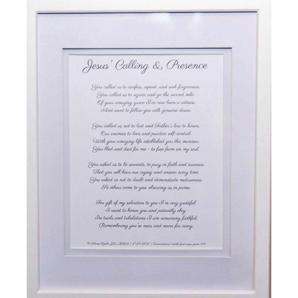 Christian Poems by Anna Szabo #PoemsFromGod God's Presence framed poetry for Prayer Hallway