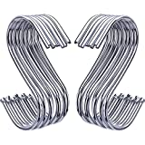 Outus S Shaped Hooks Hanging Hooks Hangers for Bathroom Bedroom Office and Kitchen ( 20 Pack )