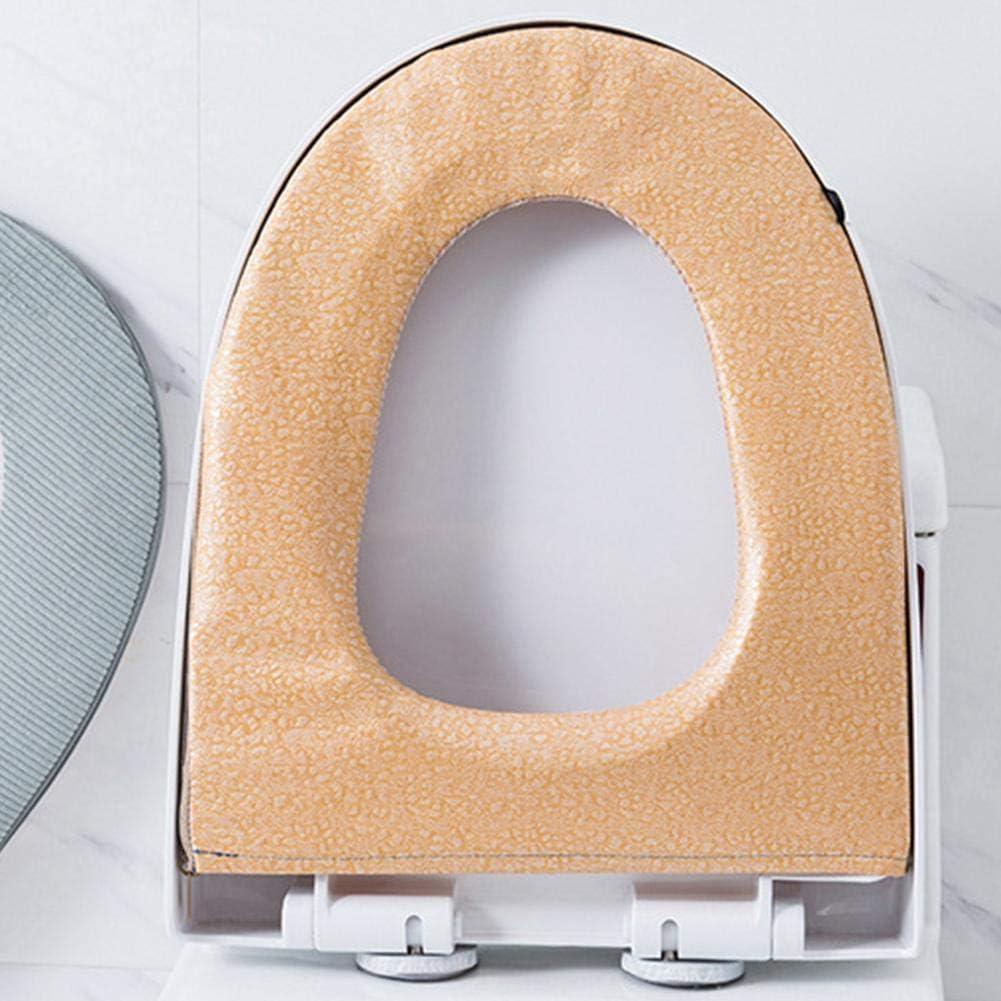 zhuyu Coussin de si/ège de Toilette en Velours c/ôtel/é /étanche avec Fermeture /Éclair Motif Chat