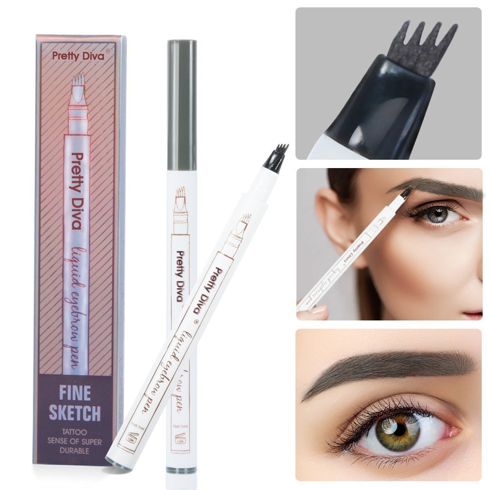Tattoo Eyebrow Pen By Prettydiva Waterproof Long Lasting