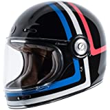 TORC T1 Unisex-Adult Retro Full-face-Helmet-Style Motorcycle (Americana Tron Gloss Black, X-Small)