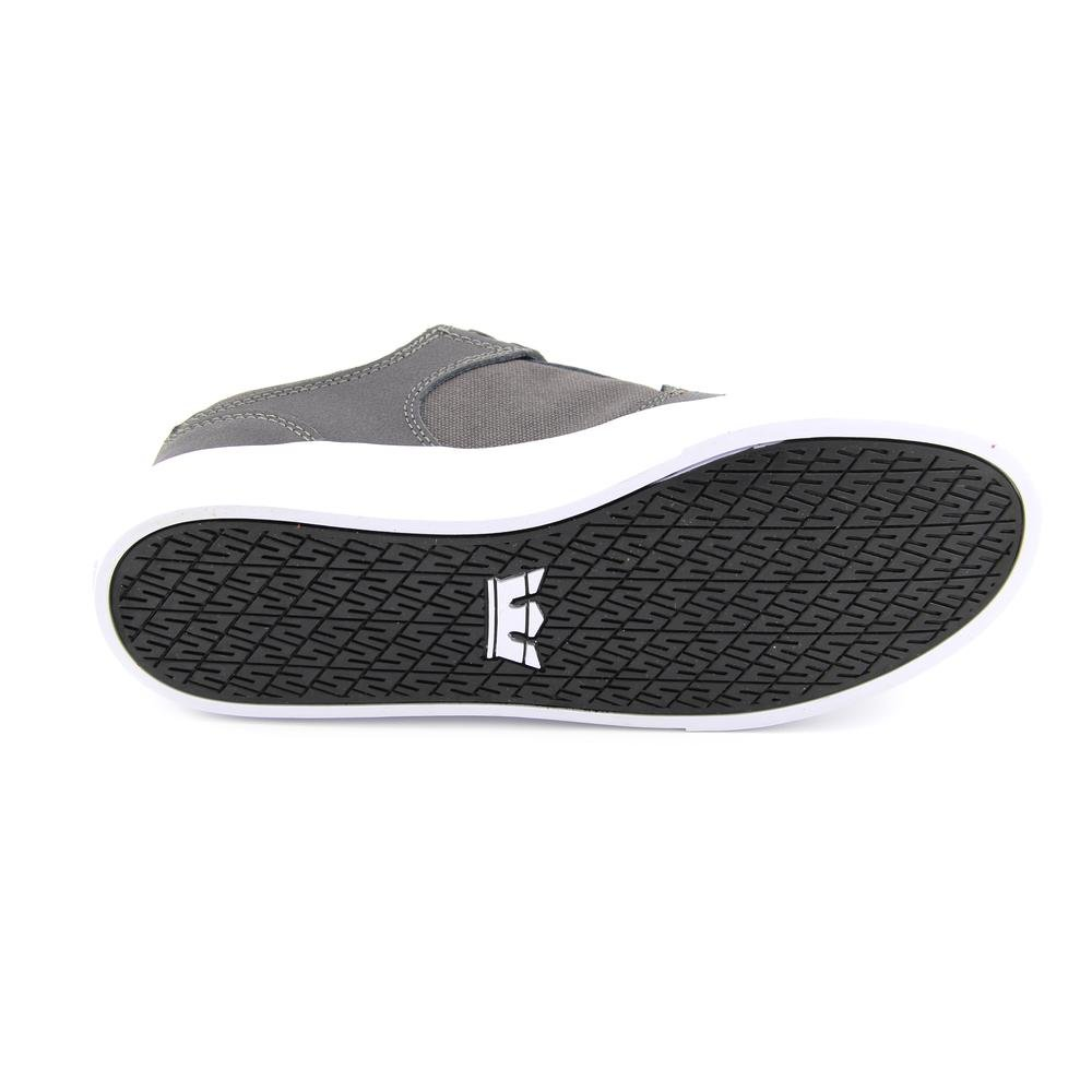 Supra Vaider Low Herren Grau Rund Leinwand Skate Schuhe 40 40 40 EUR Neu e5ae98