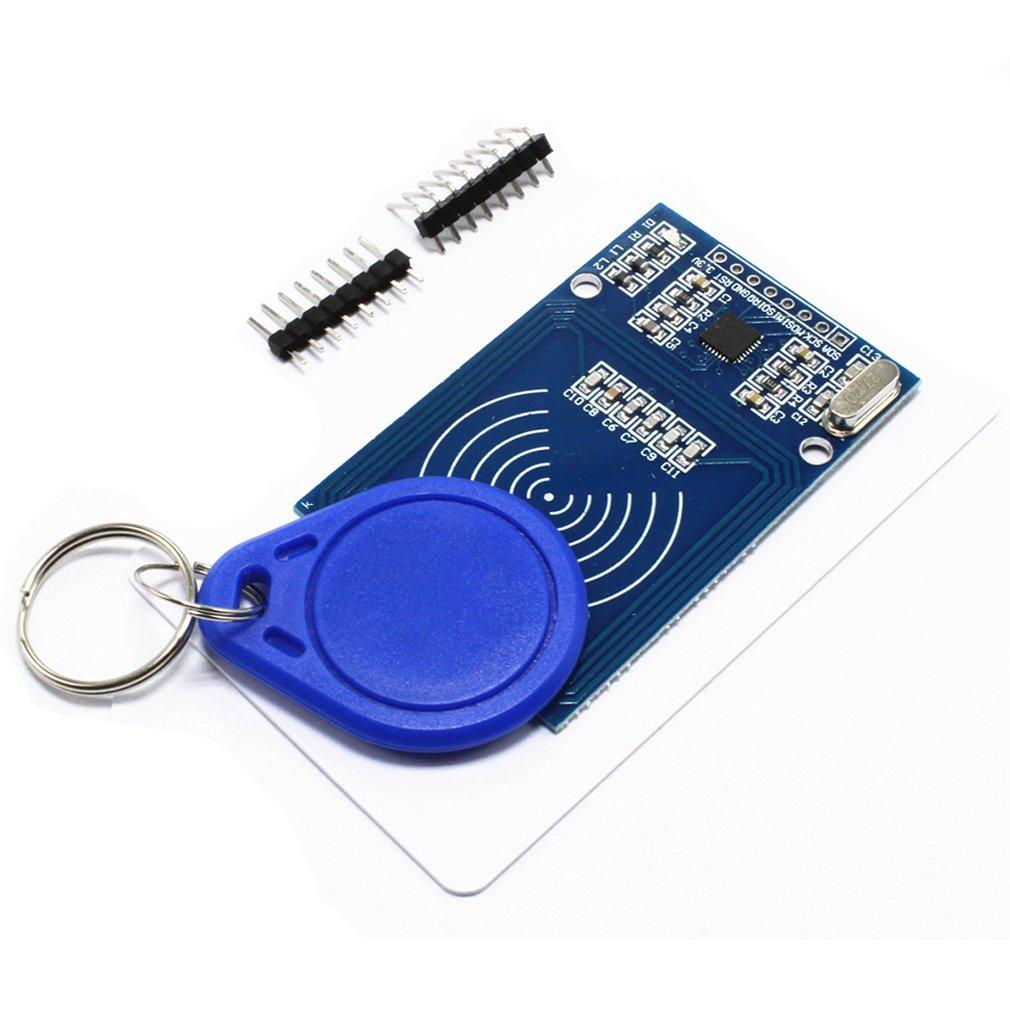 HiLetgo RFID Kit - Mifare RC522 RF IC Card Sensor Module + S50 Blank Card + Key Ring for Arduino Raspberry Pi by HiLetgo (Image #2)