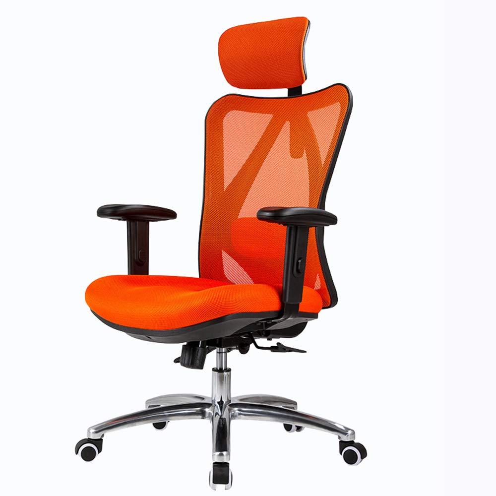 LJFYXZ オフィスチェア メッシュ パソコンチェア ホームゲームチェア 調整可能な腰椎サポート 7cm持ち手の手すり 調節可能なヘッドレスト グリッド ベアリング重量200kg 多色オプション (色 : 青)  青 B07KT59SCZ