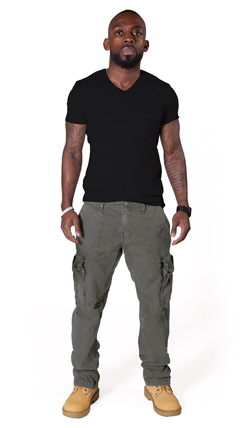 Classic Men's Cargo Trousers Army Green Combat Pants Mens Army Trousers