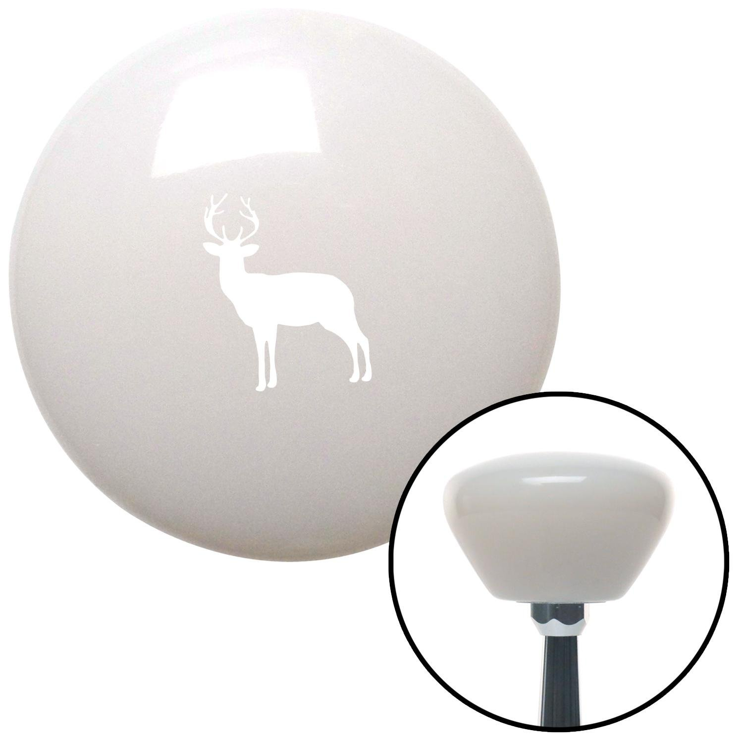 White Deer Silhouette White Retro with M16 x 1.5 Insert American Shifter 279619 Shift Knob