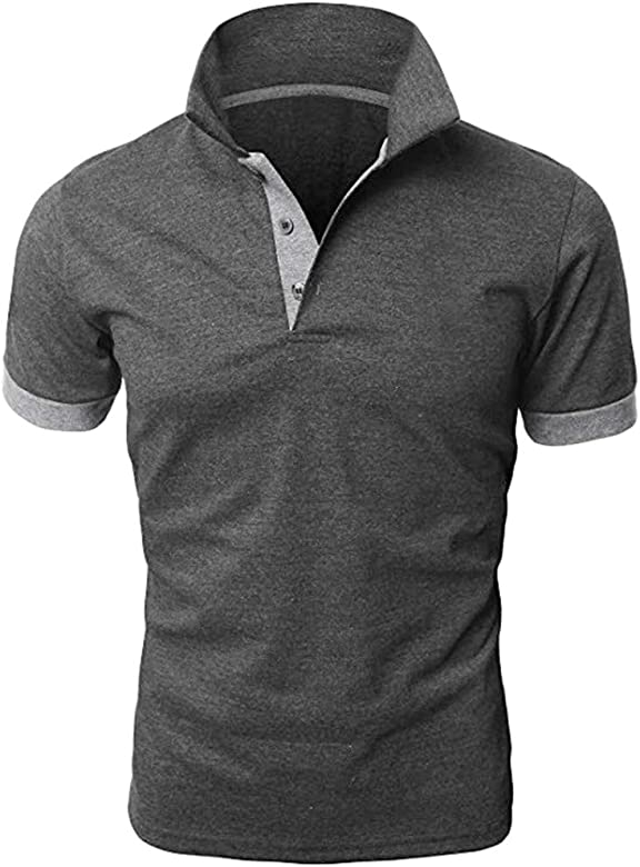 Sharemen Mens Casual Slim Fit Polo T-Shirts Basic Designed of Various Styles