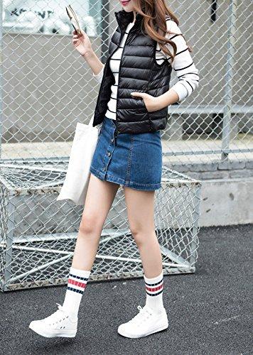 Vest Winter Autumn Outfit Tops YueLian Women's Outwear Black Down Padded qanCXwE6xp