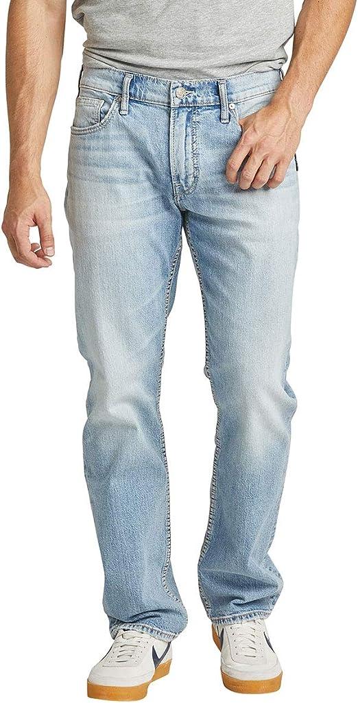 Silver Jeans Co. メンズ アラン クラシックフィット ストレートレッグ ジーンズ