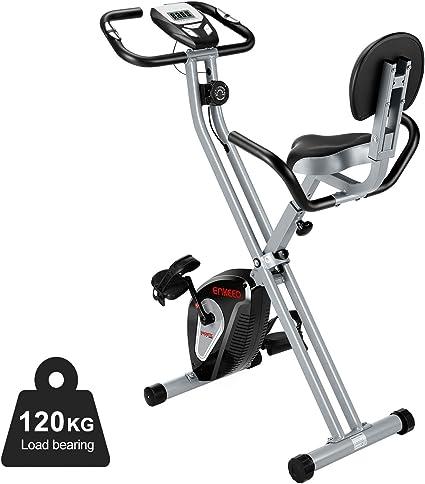 Heimtrainer Ergometer Hometrainer Fitnessbike Klappbar Cardio Puls Weiß 120Kg