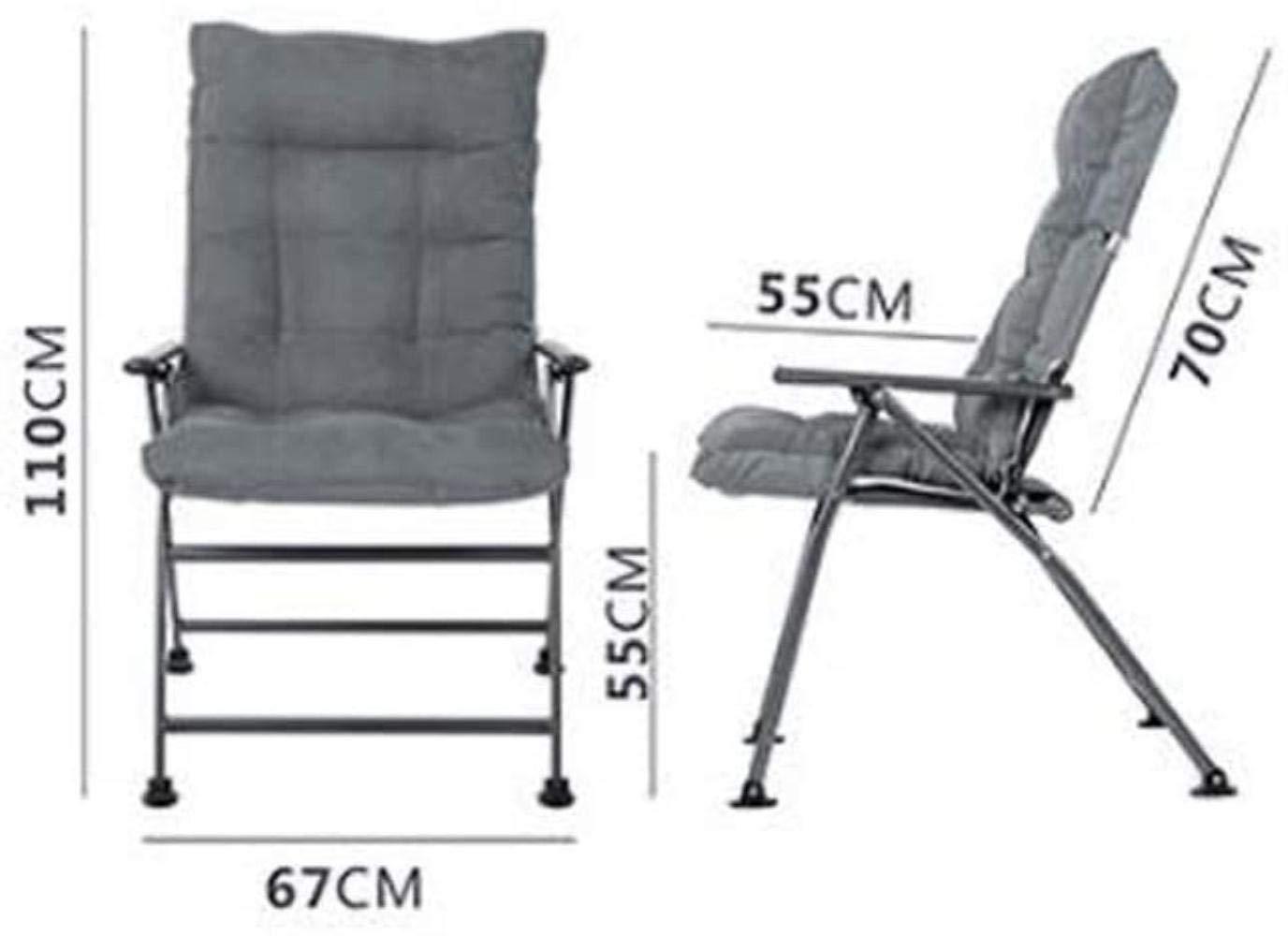 Fällbara stolar kontorsstol Siesta College sovsal dator stol rygg soffa stol avtagbar tvättbar fåtölj (färg: Blå) Grått